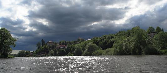 Pohled na Týnec nad Labem
